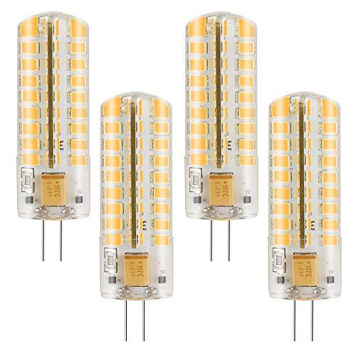 MENGS Pack de 4 Regulable lámpara LED 7 Watt G4, 72x 2835 SMD, Blanco Frío 6500K, AC/DC 12V