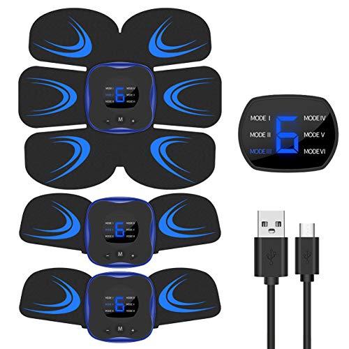 Vaculim EMS 腹筋ベルト 液晶表示 USB充電式 腹筋 腕筋 筋トレ器具 トレーニングマシーン 「6種類モード 9...