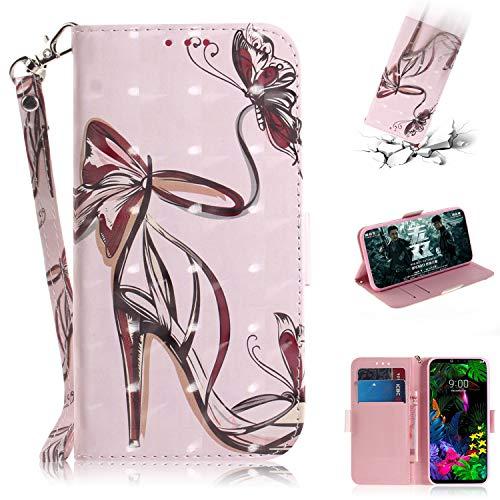 HiCASE Pro Handyhülle, Hülle für LG G8 ThinQ, Handyhülle mit Kartenfach Geld Slot Ständer PU Ledertasche TPU Bumper Flip Schutzhülle