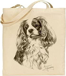 Mike Sibley Cavalier King Charles Spaniel Cotton Natural Bag