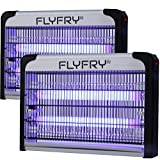 FLYFRY Bug Zapper 20w Large Size Mosquito Killer Fly Lamp Electronic Insect Trap, Bees, Moth, Wasp, Beetle & Other pests for Indoor Garage Restaurant Commercial
