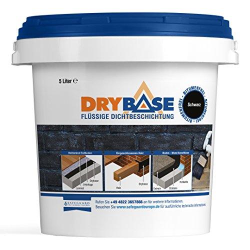 Drybase Flüssige Dichtbeschichtung, (5Liter), Flüssigkunststoff Bodenbeschichtung: Feuchtigkeitsschutz unter Bodenbelag. Einkomponentige Lösung gegen aufsteigende Feuchtigkeit.