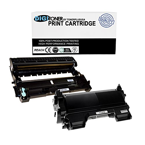 TonerPlusUSA DR420 TN450 DigiToner Combo- Compatible Toner Cartridge for Brother Plus Drum Unit Replacement for Brother