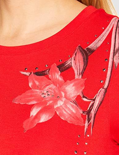 Desigual Vest_Caroline Vestido Casual, Rojo, XXL para Mujer