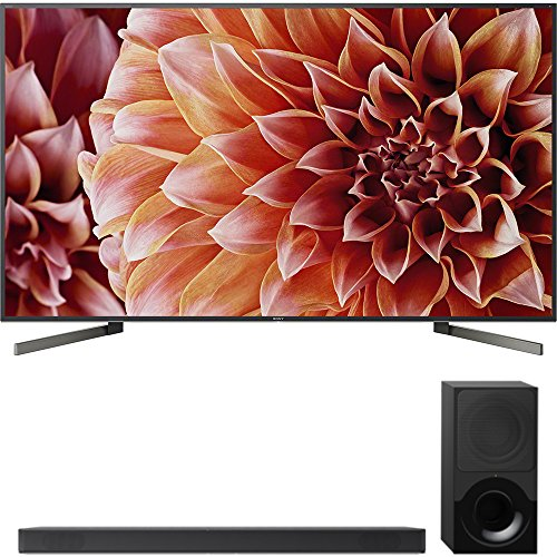 Sony 85-Inch 4K Ultra HD Smart LED TV 2018 Model (XBR85X900F) with Sony 2.1ch Soundbar with Dolby...