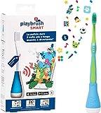 Playbrush© Set- Bluetooth Zahnputzaufsatz für Kinderzahnbürsten zum spielerischen Erlernen der richtigen Zahnpflege, Blau, 1 Stück, inkl. Zahnbürste...