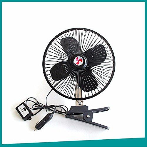 WanJiaMen\'Shop Windiger 8-Zoll-4-Blatt-Lüfter für Fahrzeuge Auto-Metallventilator Auto-Lüfter Lüfter für Sommerauto, 12V
