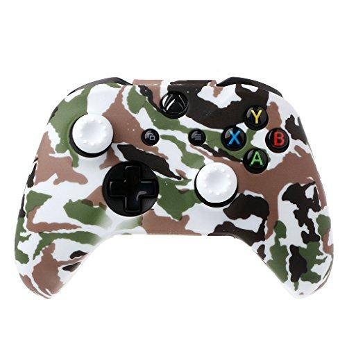 angwang Capa para Gamepad de silicone camuflado + 2 capas de joystick para controle Xbox One X S