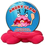 GearsOut Angry Clam Monthly Mood Swing Anger Management Putty - Funny Pink Clam Stress Putty, Humor, Fidget Toy, Metal Tin