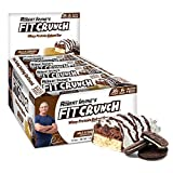 Fit Crunch Protein Bars, Gluten Free, Whey Protein Baked Bar, 88g Bar (12 Count, Milk & Cookies)