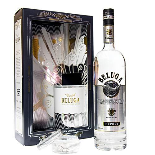 BELUGA EXPORT NOBLE VODKA + KAVIER GLAS (1 x 1l)