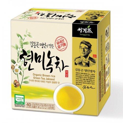 Ssanggye Tea Korean Organic Brown Rice Green Tea 40 tea bags