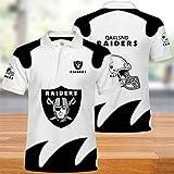 Cute Totoro Polos, T-Shirts NFL d'été avec Oakland Raiders Logo Design Maillot de Football américain Sweat-Shirts Fans Maillots Maillot d'été brodé à Manches Courtes pour Hommes et Femmes (XXXL)