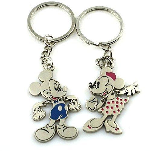 "Angelia His Her Keychain Keyring Couples - Arrow & ""I Love You"" Heart & Key -Valentine's Day / Birthday / Christmas /Wedding anniversary Present Gift I3"