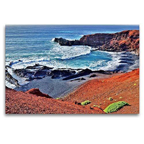 Premium Textil-Leinwand 120 x 80 cm Quer-Format Lanzarote   Wandbild, HD-Bild auf Keilrahmen, Fertigbild auf hochwertigem Vlies, Leinwanddruck von Jutta Heußlein