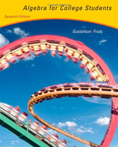 Algebra for College Students (with CD-ROM, BCA/iLrn™...
