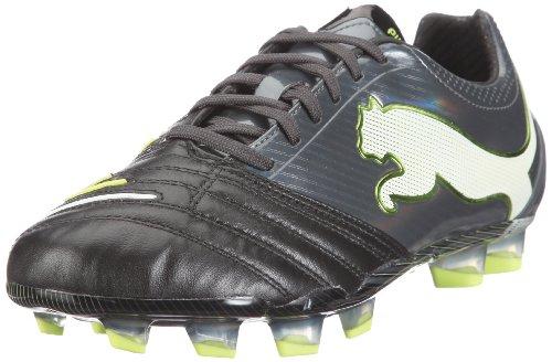 PUMA Powercat 1.12 FG Mens Leather Soccer Boots/Cleats-Black-9