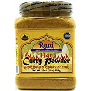 Rani Curry Powder Hot Natural 11-Spice Blend 1lb (16oz) ~ Salt Free | Vegan | Gluten Friendly | Non-GMO