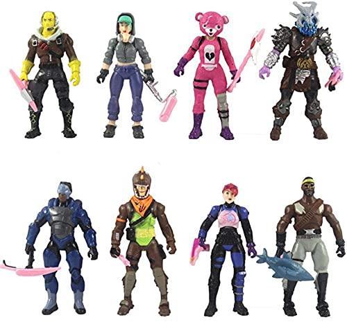 BESTZY Figura de Acción de Fortnite, Colección de Figuras de Juegos de Fortnite, Muñeca de Anime de Dibujos Animados de 8 PCS, Adornos de Decoración del Hogar, Regalos de Cumpleaños