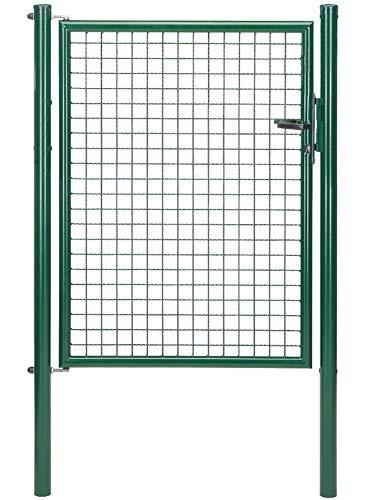GAH-Alberts 600204 Wellengitter-Einzeltor mit Zubehör | verschiedene Breiten und Höhen - wahlweise in verschiedenen Farben | kunststoffbeschichtet, grün | Breite 100 cm | Höhe 125 cm