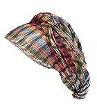 Transparenter Headwrap Schal, handgewebt, atmungsaktiv, offenes Netzgewebe, natürlicher Erdton