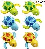 FancyWhoop Schwimmschildkröte Baby 6 Stück uhrwerk schildkröte Schildkröte Wasserspielzeug Bad Spielzeug Turtle Bath Toy für Kinder Jungen Mädchen 0 1 2 4 5 6 Monate