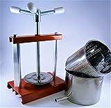 Pressa per formaggio/Pressafrutta 4,3L - Cestello e Contenitore in Acciaio Inox - Fatto in Italia