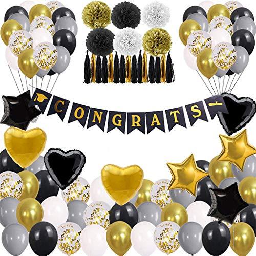 AERVEAL 2021 Decoraciones para Fiesta de graduación, Congrats Grad Banner Suministros para Globos de Fiesta, Globos