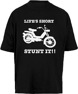 Lifes Short Stunt It! Unisex Camiseta Holgada Hombre Mujer Mangas Kortas - Unisex Baggy T-Shirt Black