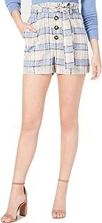 J.O.A. Plaid Paper Bag Shorts Blue Size Small