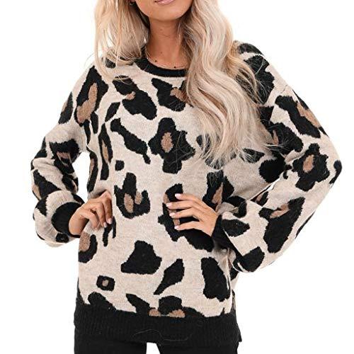 Why Choose Amlaiworld Fashion Women Winter Sweater O-Neck Long Sleeves Leopard Print Blouse Tops Eas...
