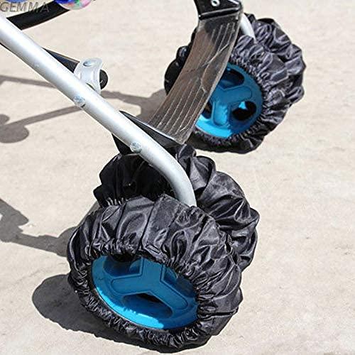 Bweele Baby Reifenschutz,2 Stück Kinderwagen Kinderwagen Kinderwagen Radabdeckung Schutz Anti Dirty für Kinderwagenräder Radschutz Kinderwagen Räder