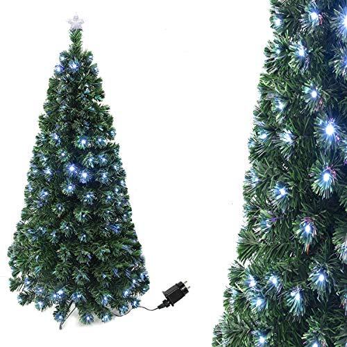 Arcoiris® Árbol de Navidad LED Bluetooth Árbol de Fibra Óptica de Navidad con el Cambio de Color Luz LED + Fibra Óptica (120CM, Óptica luz con Bluetooth)