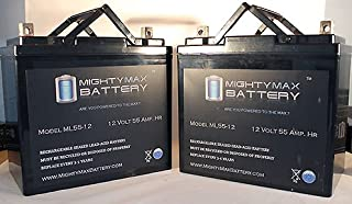 Mighty Max Battery Battery Pride Jazzy 600,1115,1121 PS-12550 22NF 12V AGM 55AH - 2 Pack Brand Product