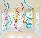 amscan Swirl Deco Plastica Multicolor 56 Cm...