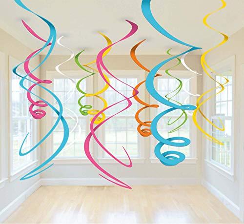 amscan Swirl Deco Plastica Multicolor 56 Cm