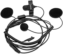 CQtransceiver Close Face Headset With Boom Mic Finger PTT for Razor SkullSkins Raider Helmet fit Motorola Radio PRO7550 PRO9150 PTX700