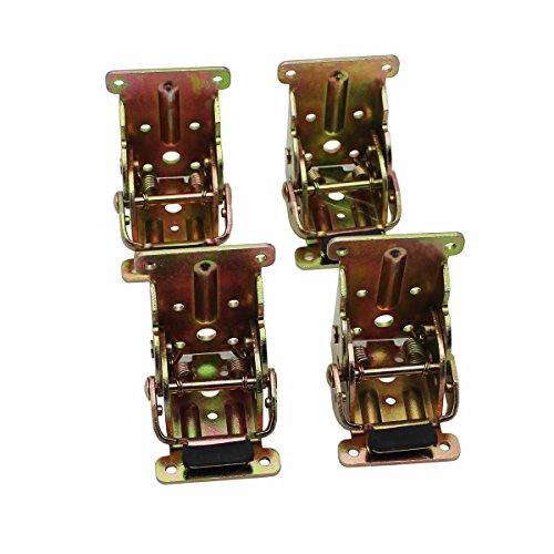 Raogoodcx Faltbare Unterstützung Halterung Stahl Self Lock Erweiterung Tabelle Bett Bein Füße Folding Möbel Hardware Möbel Scharniere, Klapptisch Hardware, Folding Wooden Leg Fitting