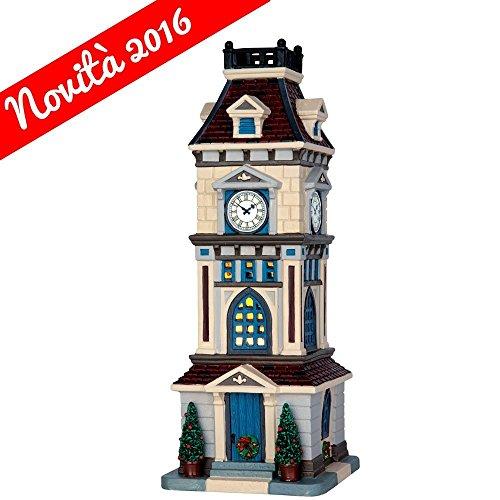 Lemax - Clock Tower - 10,5cmx28,7cmx11,5cm - Beleuchteter Glockenturm - 4,5V - LED - Porzellan