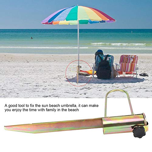 needlid Useful Lightweight Portable Umbrella Cup Holder Beach, Beach Buddy Umbrella Holder, for Flagstick Sun Beach Umbrella