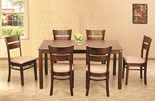 Buy Hometown Beldon Six Seater Dining Table Set Wenge On Amazon Paisawapas Com