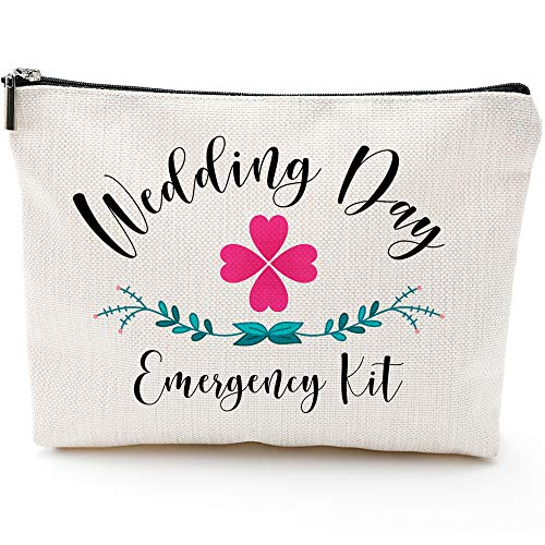Wedding Survival Kit,Wedding Emergency Kit,Wedding Day Emergency Kit, Bridal Shower Gifts-Makeup Travel Case,Makeup Bag Gifts