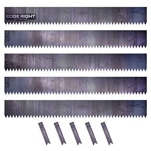 Edge right - hammer-in landscape edging - 48 inch strips - 14-gauge cor-ten steel - 6 inch depth (5 pack)