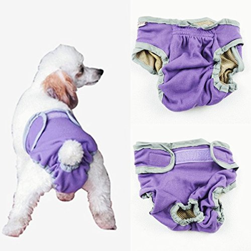 nikka(日華)犬用 サニタリーパンツ マナーパンツ 生理パンツ おむつカバー 女の子用 発情期用 メス 生理用 犬服 小型犬 中型犬 大型犬 パーブル Sサイズ