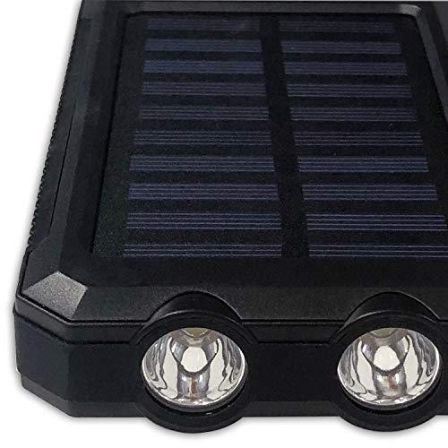 HIDISCMBSC8000FTBK8000mAhソーラーチャージャー2USB+高輝度LEDライト搭載