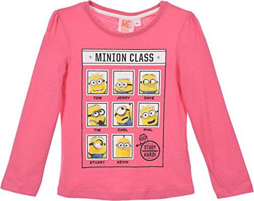 Minions Ich einfach Unverbesserlich Langarmshirt Pink 128 ( 8 Jahre)