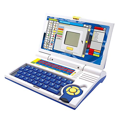 Khilona House Educational Laptop Computer Toy with Mouse for Kids Above 3 Years - 20 Fun Activity Learning Machine, Now Learn Letter, Words, Games, Mathematics, Music, Logic, Memory Tool