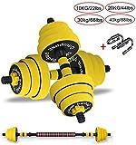 LCNING Hantelset Gym Bicep Gewichtheben Hanteln Barbell Gummigriffe Festigkeit Gewicht Eisen...
