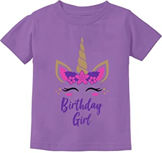 Birthday Girl Unicorn Outfit Gifts for Baby Girls' Infant Kids T-Shirt