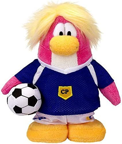 Disney Club Penguin 6.5 Inch Series 14 Plush Figure Soccer Girl Includes Coin with Code  by Jakks Pacific
